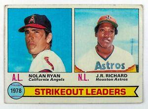 Nolan Ryan / J.R. Richard #6 (1979 Topps) 1978 Strikeout Leaders, Angels/Astros