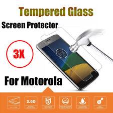 3PACK For Motorola Moto G4 G5 G6 Plus 9H Tempered Glass Flim Screen Protector