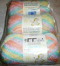 Bernat Baby COORDINATES Yarn Lot of 3 - COTTON CANDY (assorted pastels)