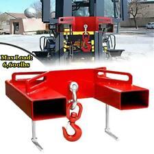 6600lbs Forklift Hoist Hook Swivel Lifting Hitch Adapter Mobile Crane Attachment