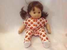 Bitty Baby 15 doll Halloween pumpkin Sleeper Pajamas pjs girl/boy outfit clothes