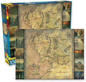 The Lord of the Rings Middle Earth Map 1000 piece jigsaw puzzle (nm)
