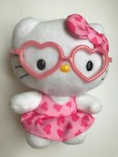 """5"""" Plush HELLO KITTY with Heart Shaped Glasses 2014 TY Inc"""