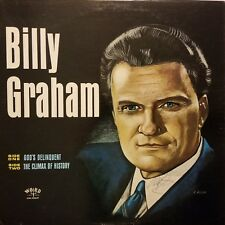Rev. Billy Graham (d.) Signed 1960's Sermon LP Record - JSA COA - VERY RARE!!