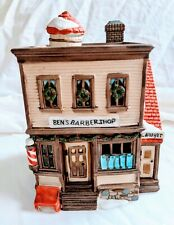 Dept 56 New England Village Series #5939-0 Ben's Barber Shop Heritage Collection