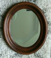 """Antique Victorian Oval Walnut Frame with mirror, holds 13"""" X 10"""""""