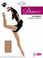 Silky Stirrup Shimmer Ballet and Dance Tights Light Toast Age 7 to 9 (childs)