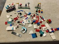 VINTAGE 1993 LEGO 6345 AERIAL ACROBATS INCOMPLETE LOT OF PARTS WITH 6 MINIFIGS