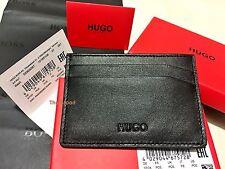 Hugo Boss Men's 'Basit' Black Leather Card Holder Wallet BOSS BLACK