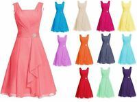 Short Chiffon Wedding Formal Evening Party Bridesmaid Ball Gown Prom Dress 6-22