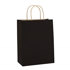 Recyclable Paper Gift Bags With Handles 60 Lbs Capacity 8x4.25x10.5inches 100pcs