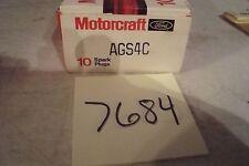 Genuine FORD MOTORCRAFT  Spark Plug AGS-4C- BOX OF 10