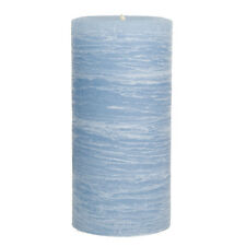 "Light Blue Pillar Candle - Sky Rustic 3x6"" - Nautical Collection - Unscented"