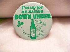 Aaa- I'M Up For An Aussie Down Under Sheaf Stout Pin Badge #004