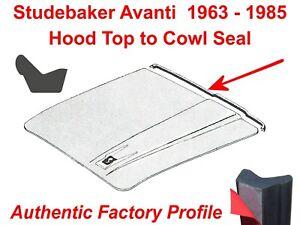 Studebaker Avanti 63-85 Hood to Cowl Weatherstrip Seal, Authentic Factory Design