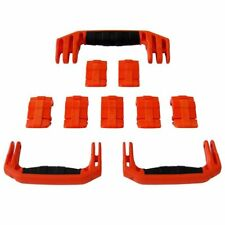 New Pelican Orange 1650 replacement latches (7) & handles (3) - kits.