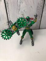 """Lightspeed Rescue GREEN RANGER Power Ranger Mega Battle 5"""" Good Condition"""