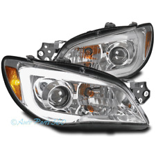 FOR 06-07 SUBARU IMPREZA WRX LED BAR PROJECTOR HEADLIGHTS LAMP CHROME LEFT+RIGHT