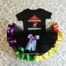 Customized Tutu One Piece Colorful Skirt Set with Headband 4-5years old