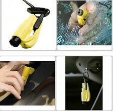 ResQMe Car Escape Rescue Tool Keychain Glass Breaker & Seatbelt Cutter Yellow