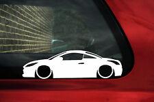 2x bas peugeot rcz coupé silhouette contour pare-chocs/fenêtre autocollants, decals
