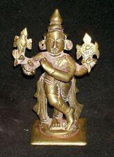 "Antique Hindu Traditional Indian Bronze Statue Of ""Krishna Venugopal Collectible"