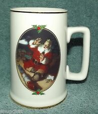 1996 Ultimate Source Coca-Cola Coke Mug Santa Helicopter Train H. Sundblom Art
