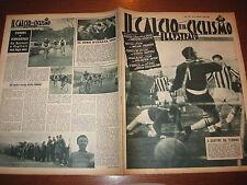 IL CALCIO E CICLISMO ILLUSTRATO 1956/9 MONTUORI FIORENTINA JUVE LAZIO GENOA @@