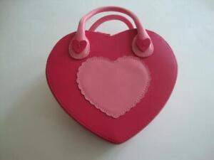 NWT GYMBOREE VALENTINE METALLIC SILVER RED HEART WRIST PURSE Free US Shipping