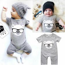 Infant Baby Cotton Romper Jumpsuit Newborn Kids Boy Girl Bodysuit Clothes Outfit