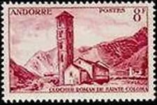 """ANDORRE FRANCAIS STAMP TIMBRE N°143 """" CLOCHER DE SAINTE-COLOMA 8 F. """" NEUF x TB"""