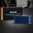 10 Row 10an Fit For Universal Aluminum Engine Transmission Oil Cooler Blue