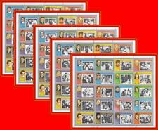 FUJEIRA 1972 USA & EUROPEAN MOVIE STARS x5 M/S folded CINEMA, JUDAICA wholesale
