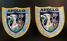 "NASA  Apollo X  ""Post-Flight"" Crew Patch Set Of 2"