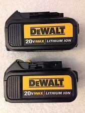 2 New 2016 Dewalt 20V Max DCB200 3.0Ah Lithium Ion Batteries Li-ion DCB200-2
