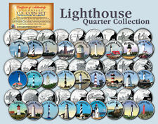 Historic American *LIGHTHOUSES* Colorized US Statehood Quarters 27-Coin Full Set