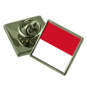 Monaco City Monaco Flag Lapel Pin Engraved Box