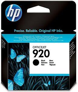 Original HP 920 schwarz black OfficeJet 6000 6500 7000 7500 OVP 08-09/2018