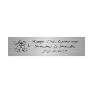 """PERSONALIZED 3"""" x 1"""" SILVER PLATE PLAQUE CUSTOM ENGRAVED MEMORIAL TROPHY PLATE"""