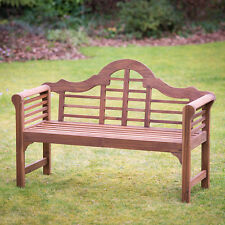 Wooden Garden Bench Lutyens Hardwood Outdoor Seat Furniture Patio Plant Theatre