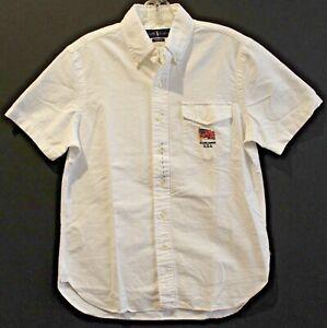 Polo Ralph Lauren Big & Tall Mens White USA Flag S/S Button-Front Shirt NWT 2XLT