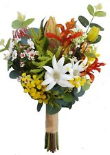 Colourful Australian Native Flower Bouquet for Aussie Bride - Artificial Flowers