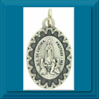 """MARY Scalloped Edge Series Our Lady of Fatima Medal 1"""" Catholic 🙏  ITALY ✝️"""