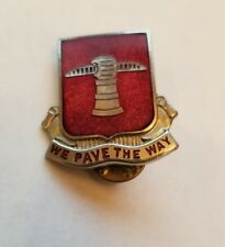 NS Meyer  Engineer Battalion Unit Crest (We Pave the Way) D.I. Insignia Pin