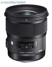 Sigma 24 mm 1.4 DG HSM Art Weitwinkel Objektiv für Canon EOS