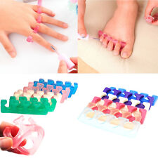 2PCS Silicone Soft Fingers Toes Separator Manicure Pedicure Tool Nail Art Care