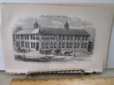 Vintage Print,PRINTING THE SHEETS,Great Industries,United States,1873,Burr