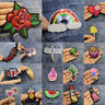 Sequins Rose Watermelon Embroidery Sew On Iron On Patch Badge Fabric Applique