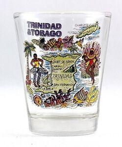 TRINIDAD & TOBAGO MAP SHOT GLASS SHOTGLASS