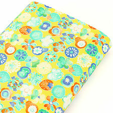 Japanese Cotton Print Fabric by FQ Heart Floral Apple Strawberry Pear Fruits S11